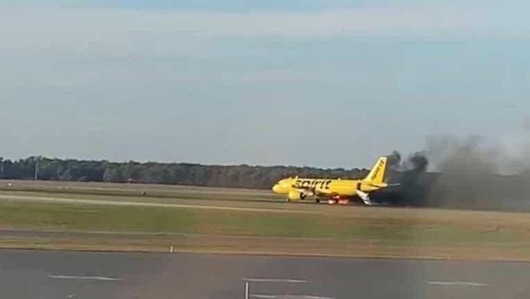 Plane fire Atlantic City