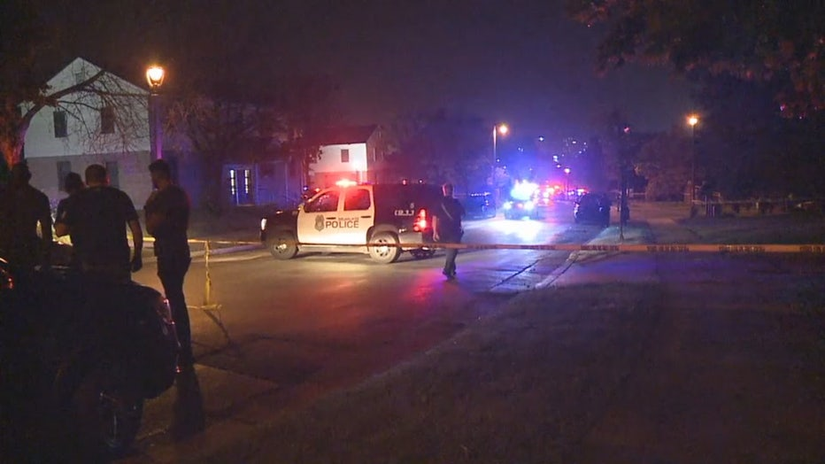 Shooting scene at 8th and Cherry, Milwaukee