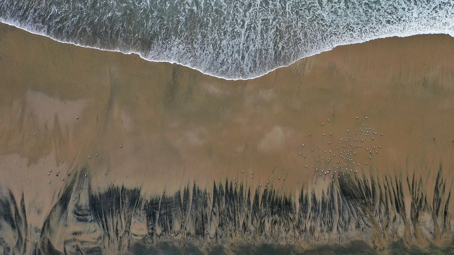 58f91575-Major Oil Spill Fouls Southern California Beaches