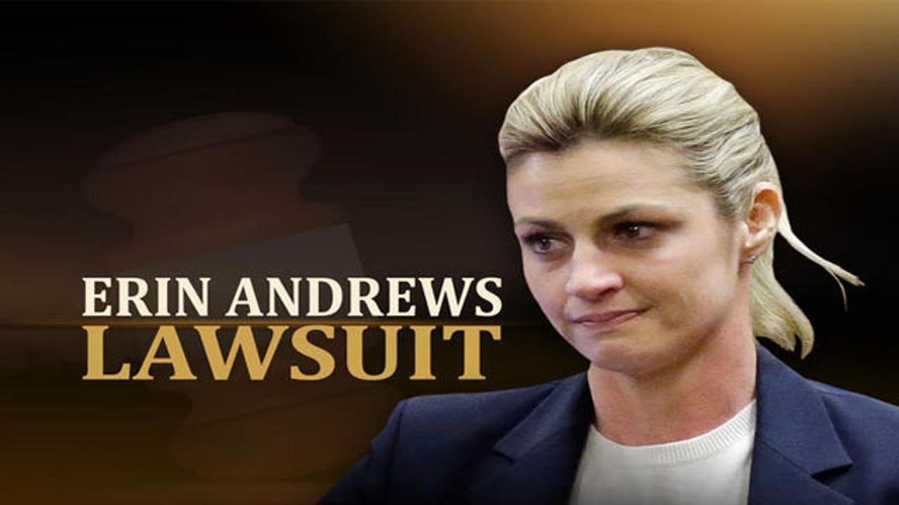 Erin Andrews breaks down in tears while testifying about