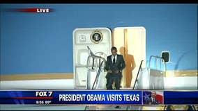 President Obama arrives in Austin