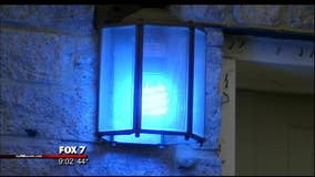 New Braunfels residents light the city blue in support of officers