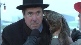 Groundhog bites mayor during Groundhog Day ceremony