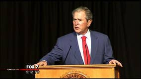 Former President George W. Bush visits Central Texas