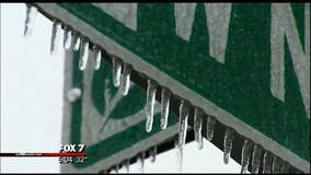 Icy conditions pose problems for drivers in Central Texas