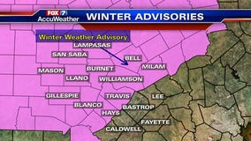 Winter Weather Advisory is in effect for much of Central Texas