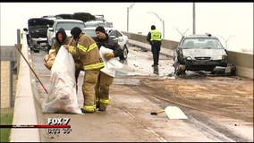 Icy weather leads to 140 crashes in 12 hours in Austin