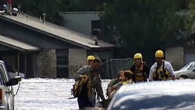 Swift water rescue teams prepare for stormy night
