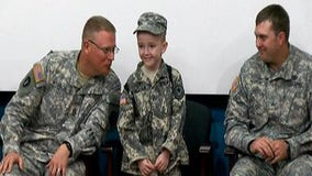 Camp Mabry holds honorary enlistment ceremony for eight-year-old battling rare disorder