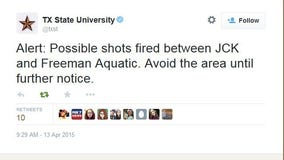 All clear given after possible shots fired at Texas State University