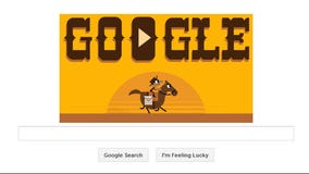 Google celebrates 155th Anniversary of The Pony Express