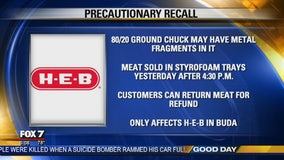 H-E-B issues recall of certain meat sold in Buda