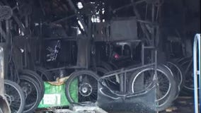 Pedicabs damaged in East Austin warehouse fire