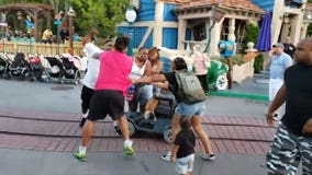 WATCH: Violent brawl breaks out at Disneyland's Toontown in front of children