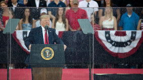 In Fourth of July speech, Trump praises Revolutionary War Army that 'took over the airports' in 1775