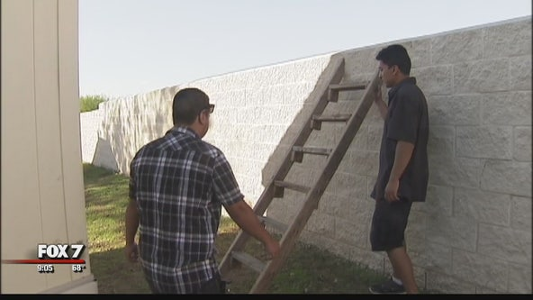 Some Pflugerville ISD students climb wall to get to school