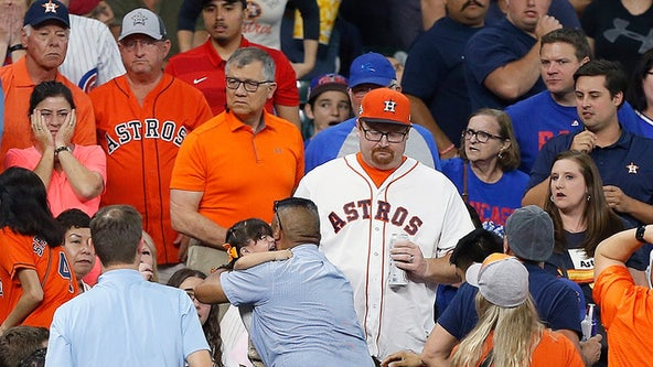 Attorney: 2-year-old girl hit during Astros-Cubs game suffered skull fracture, seizure