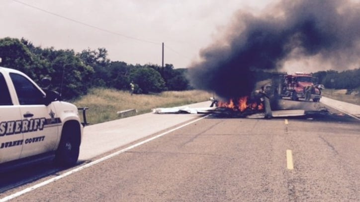 Pilot injured in small-plane crash on Hill Country highway