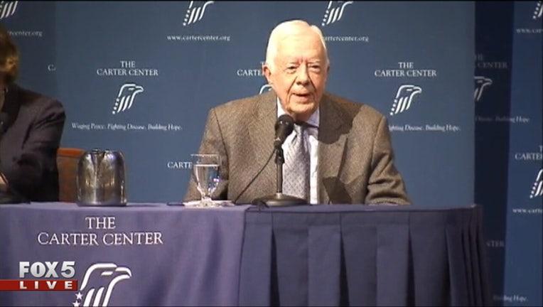 Former President Jimmy Carter and former First Lady Rosalynn Carter 3-404959