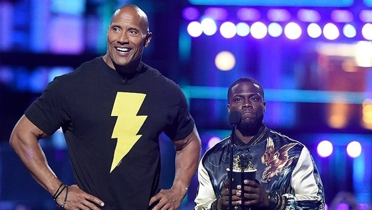 GETTY Kevin Hart The Rock-401096
