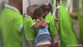 Little boy gets warm welcome from classmates after riding out Dorian in Bahamas in touching video