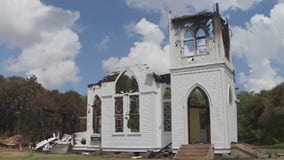 Fire destroys recently-restored Bartlett church that had stood since 1890