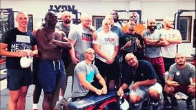 College football players shave heads to stand in solidarity with beloved coach battling cancer