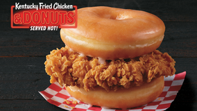 KFC is testing out a fried chicken and donut sandwich for a limited time only in select stores