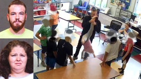 2 arrested after video shows girl, 5, dangled upside down by teacher, bullied by older kids