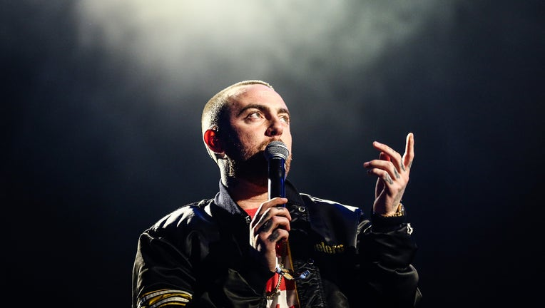 LOS ANGELES, CA - OCTOBER 28: Mac Miller performs on the Camp Stage during day 1 of Camp Flog Gnaw Carnival 2017 at Exposition Park on October 28, 2017 in Los Angeles, California. (Photo by Rich Fury/Getty Images)