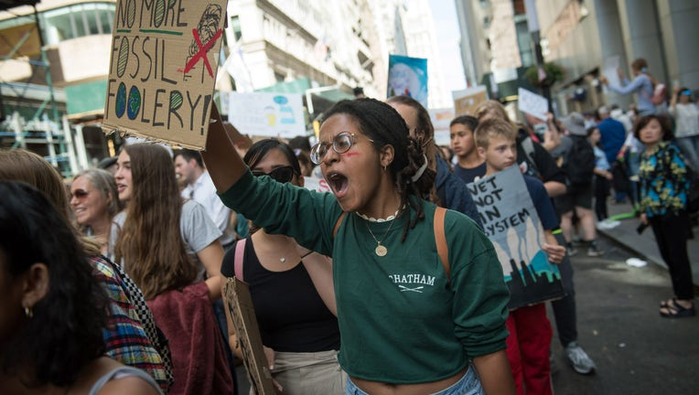 Scenes from the Global Climate Strike in Manhattan.