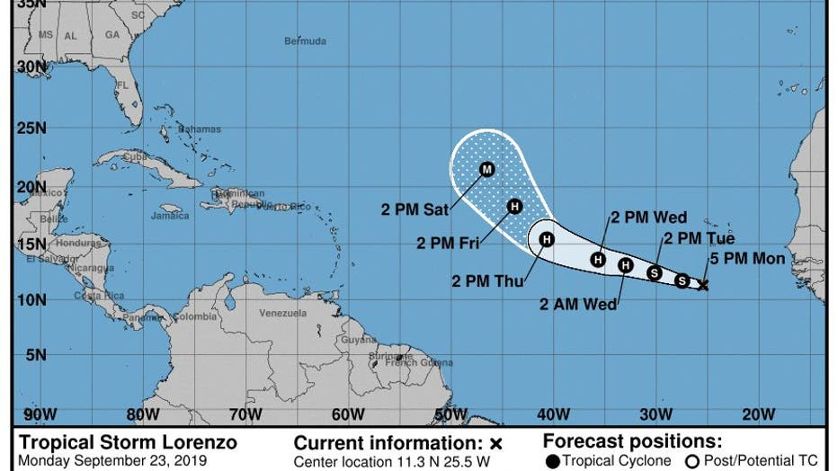 Jerry Karen And Lorenzo 3 Tropical Systems Are Churning