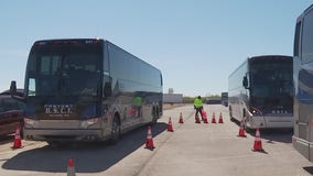 APD inspecting shuttle buses prior to F1 weekend