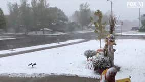 Snow falls in Texas Panhandle