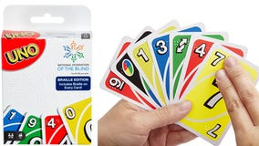 Mattel releases braille version of UNO to make card game more widely accessible