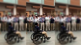 'Connor Strong': Student recovering from multiple brain surgeries receives incredible welcome from peers
