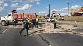 Northbound lanes of I-35 reopened following fuel spill