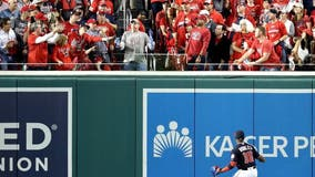 Bud Light sends fan hit with home run ball while double-fisting beers to World Series Game 6