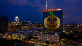 Downtown hotel lights up for Halloween