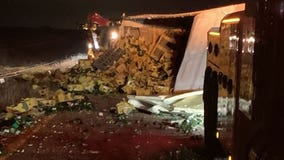 Several thousand avocados spill onto highway after crash #GuacInPeace