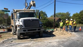 Water main break, not sink hole, in Southwest Austin