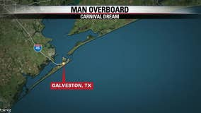 Coast Guard searches for cruise ship passenger reported overboard 47 miles from Galveston