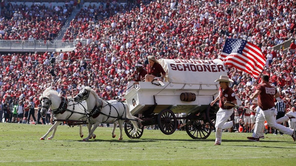 OU's Sooner Schooner crashes on field during game vs. West Virginia