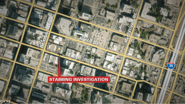 Austin police investigate downtown stabbing