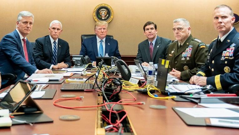 President Donald Trump said in a statement Sunday that a U.S. military raid in Syria took out Islamic State leader Abu Bakr al-Baghdadi.