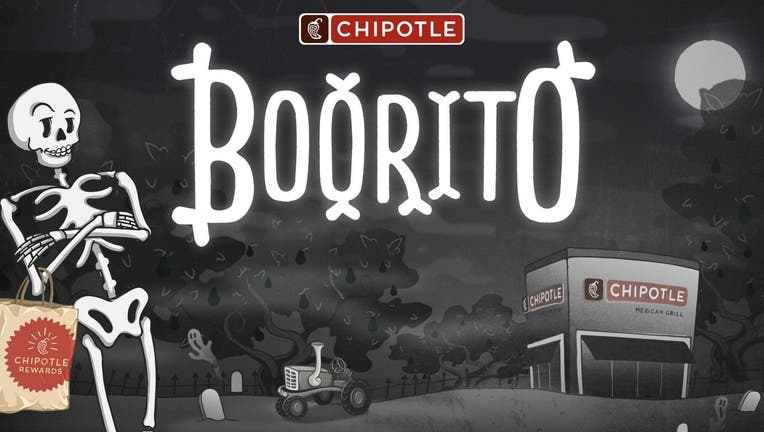 If you go trick-or-treating at Chipotle — in costume — you'll be eligible for a $4 burrito, the chain says. (Chipotle)