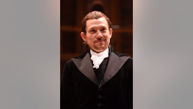 Miguel Cervantes attends the curtain call for