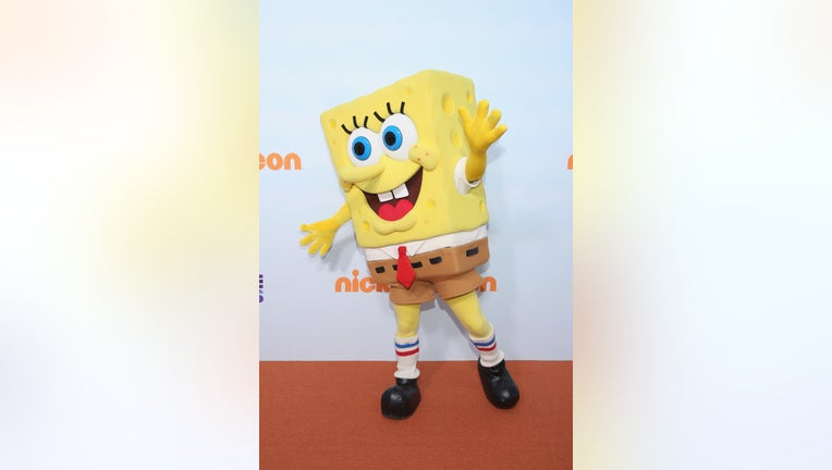 SpongeBob SquarePants attends the Nickelodeon Kids' Choice Awards Mexico 2017 at Auditorio Nacional in Mexico City, Mexico. (File photo by Victor Chavez/WireImage)