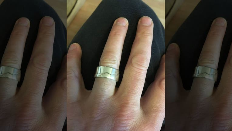 The ring slipped off Dan Levine's finger after he went for a swim in the ocean. The man shared that he usually takes the ring off before going in, but had forgotten this time. (SWNS)