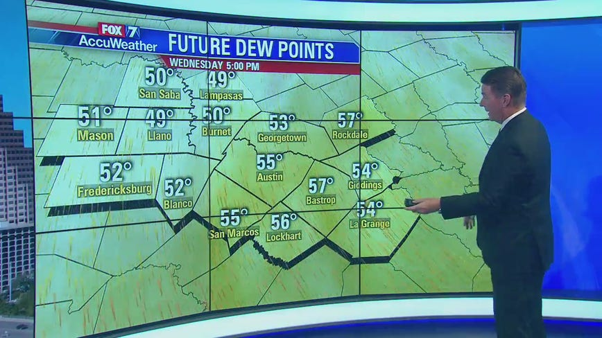 Noon weather forecast for October 23